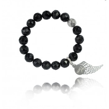 Bransoletka Classy Black Wing Agat