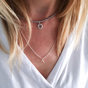 Choker North Star Silver Hematyt